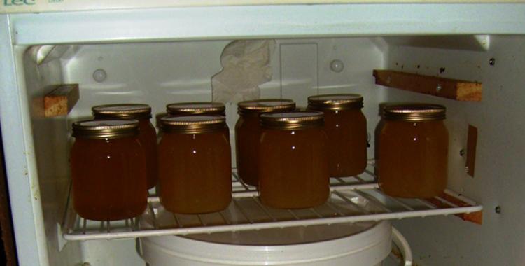 Мед в холодильнике