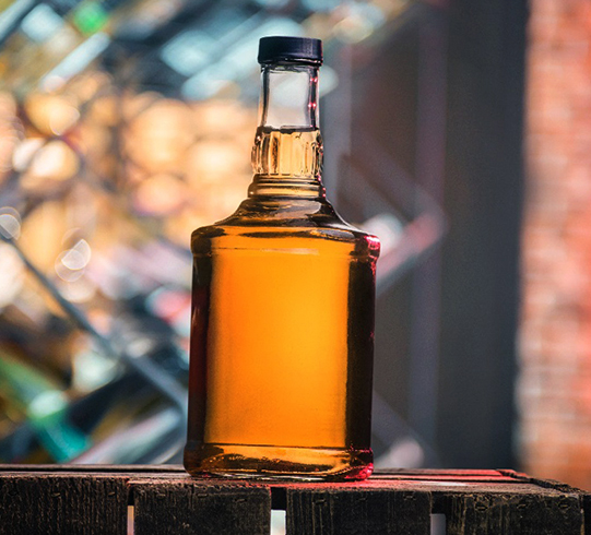 Коньяк в бутылке дома