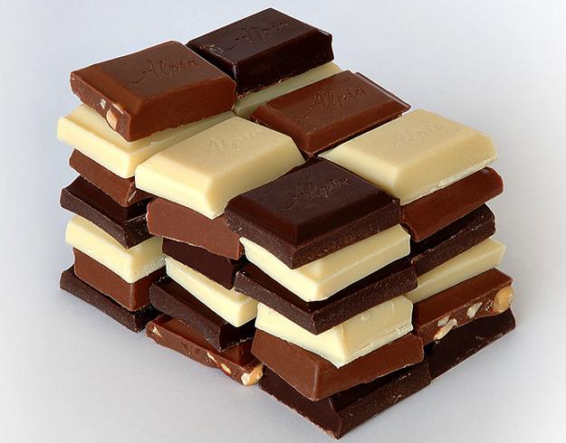 Разные виды шоколада