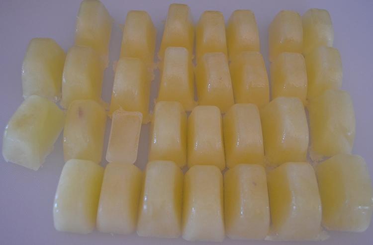 Кубики лимонного сока