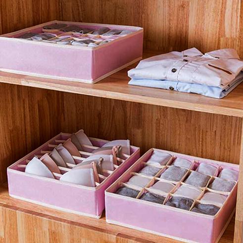 Экономное хранение бюстгалтеров в шкафу