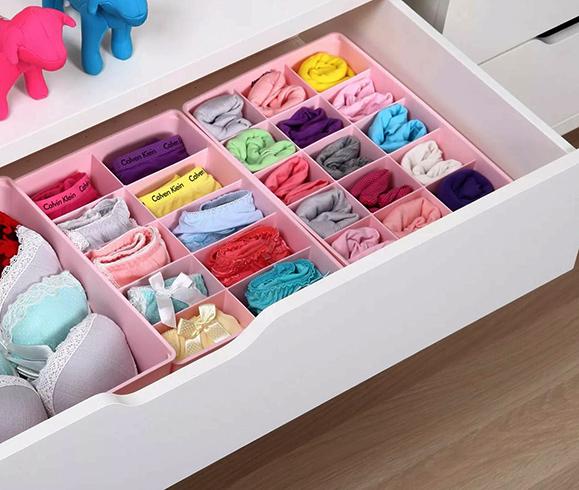 Хранение нижнего белье в комоде