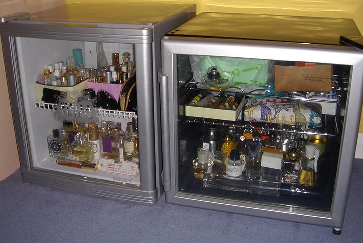 Хранение парфюмерии в специальном холодильнике