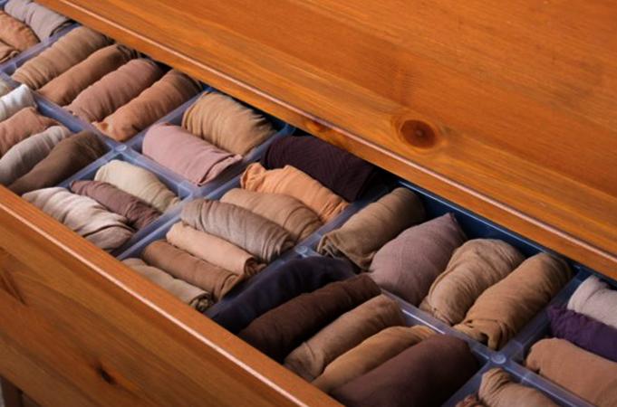 Хранение колготок в шкафу