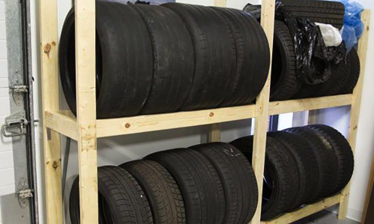 Хранение шин зимой