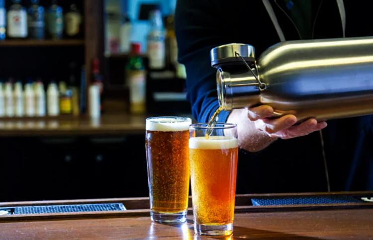 Свежее разливное пиво