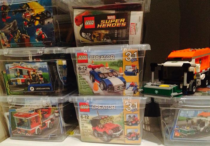 Хранение Lego в контейнерах