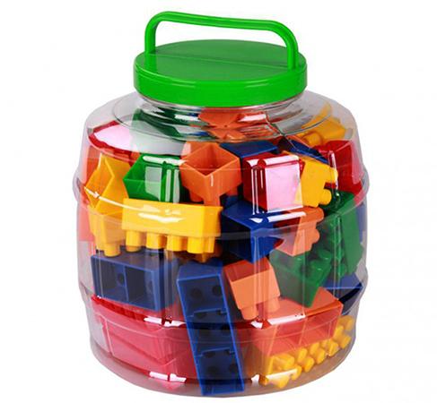 Конструктор в пластиковой банке