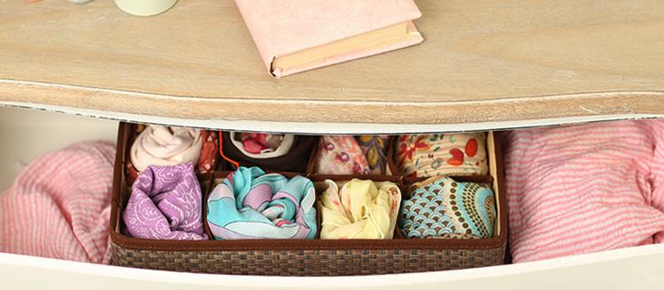 Хранение платков в комоде