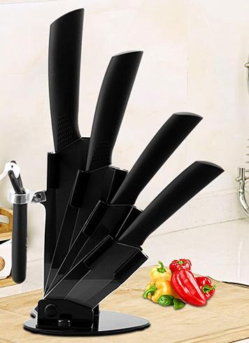 Хранение керамических ножей в подставке