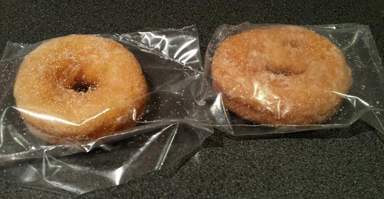 Пончики в пакетах