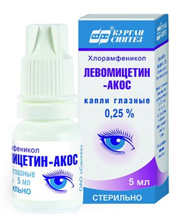 Капли Левомицетин ОАО «Синтез»