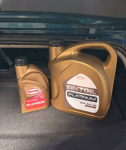 Моторное масло в багажнике