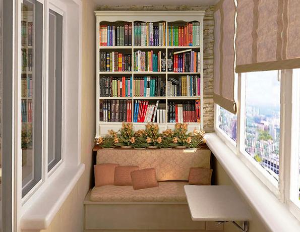 Хранение книг на балконе
