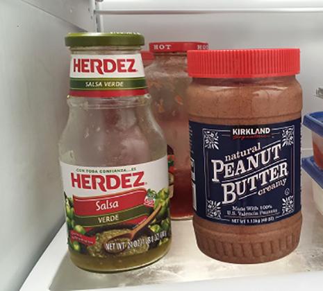 Арахисовая паста в холодильнике