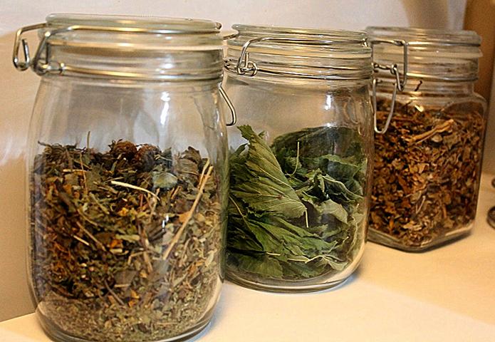 Хранение трав в стеклянных сосудах