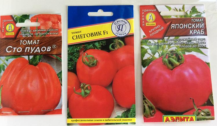 Семена томатов в пакетике