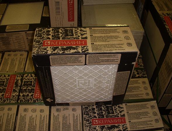 Керамическая плитка в упаковке дома