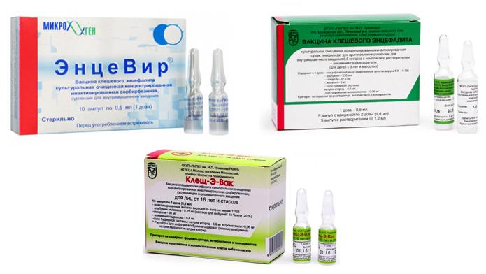 Разные вакцины от клещевого энцефалита
