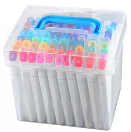 Фломастеры в пластиковом контейнере