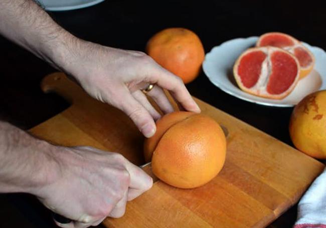 Нарезка грейпфрута