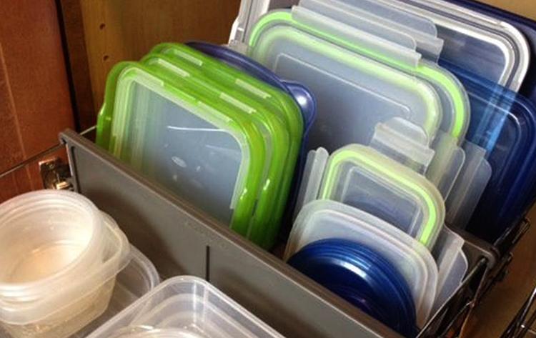 Хранение контейнеров для еды