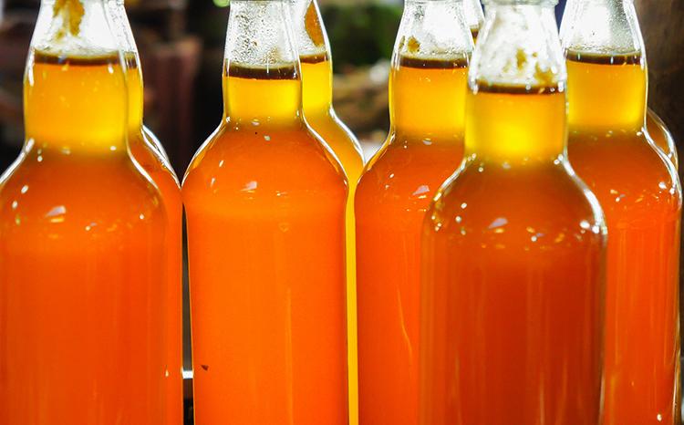 Медовуха в стеклянных бутылках