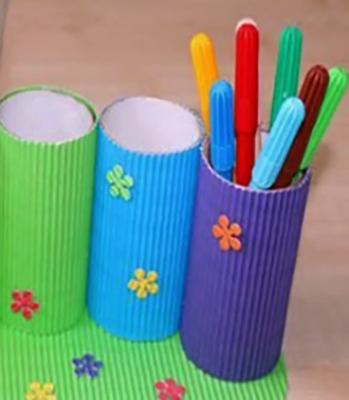 Втулки от туалетной бумаги для фломастеров