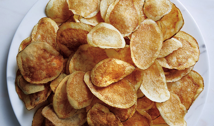Свежие домашние чипсы