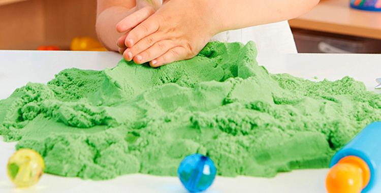 Использование кинетического песка
