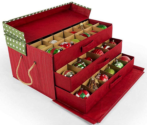 Многоуровневый ящик для елочных игрушек