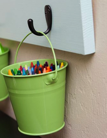 Ручки в ведерке
