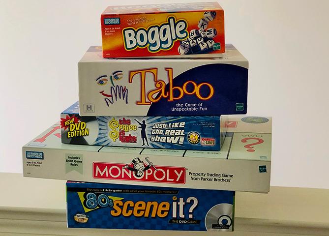 Настольные игры в коробках