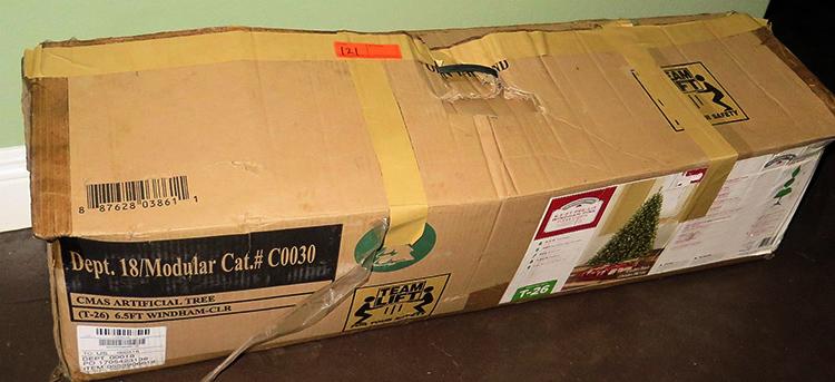 Хранение искусственной елки в коробке