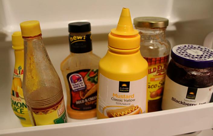 Горчица в холодильнике