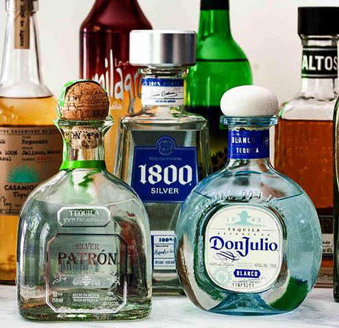 Бутылки с текилой