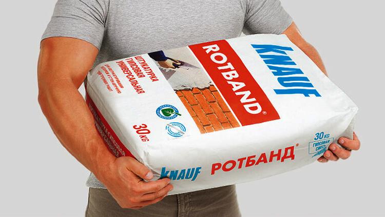 Штукатурка Rotband в руках