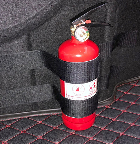 Хранение огнетушителя в автомобиле