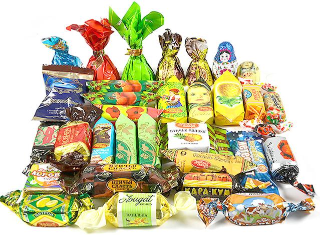 Много разных конфет